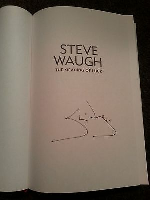 STEVE WAUGH Hand Signed Autobiography Book - The Meaning of Luck