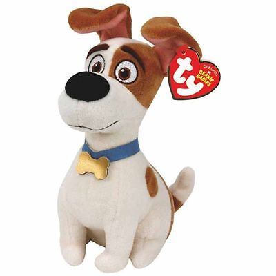 Max Dog Beanie Baby 8 inch - The Secret Life of Pets - Stuffed Animal by Ty