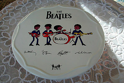 The Beatles Porcelain Signature Cake Stand - Highly Collectable
