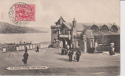 postcard fort william railway station early 1910