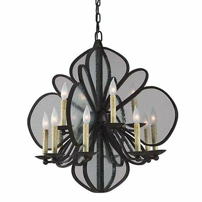 "Rustic Iron Hardware Large 28"" Monarch Chandelier NIB Remodel Restoration $1650"
