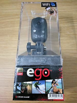 BNIB Liquid Image Ego Black 1080p WiFi Enabled HD Action Video Camera