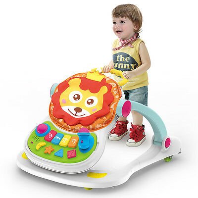 4 in 1 MUSICAL BABY ACTIVITY PUSH WALKER - Play/ Feed/Sit /Walk