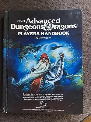 1978 TSR Official Advanced Dungeons & Dragons Players Handbook Vintage Wizard