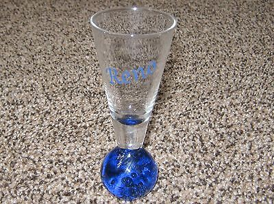 Reno Nevada Collectible Shot Glass - Blue Glass Round Base