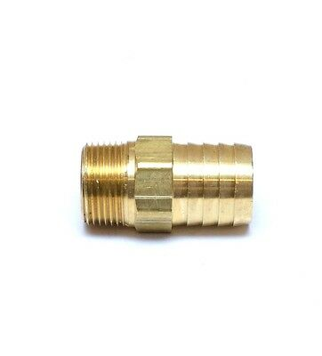"Straight 1"" Hose ID Barb 3/4 Male NPT Brass Fitting Water Oil Gas Air Fuel"