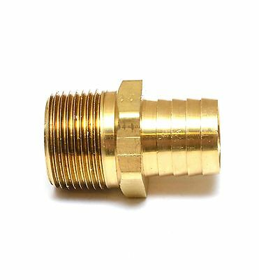 Straight Barb Fitting 1in ID Hose Barb 1in Male NPT Water Oil Gas Air Fuel