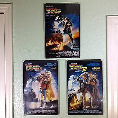 Back To The Future Movie Poster 11x17 Framed New Parts 1 2 3 Lot