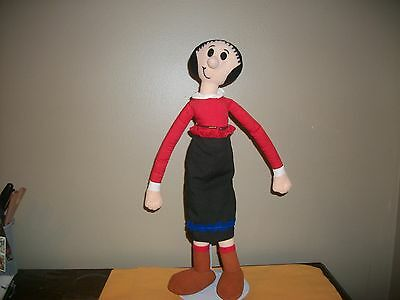 "Vintage 1992 King Features approx 18"" tall Olive Oyl Cloth Rag Doll Popeye"