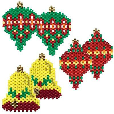 """Herrschner's Holiday Beaded Ornaments Craft Kit - """"A Christmas Past"""" (Makes 6)"""