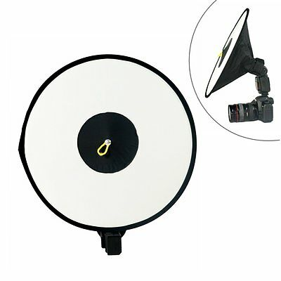 44cm Collapsible Flash Round Ring Dish Diffuser Speedlite Softbox Reflector