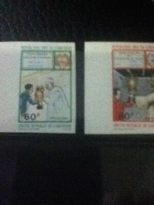 1981 Cameroon Set 1979 Imperf African Soccer Cup Champions Cat# 689-690
