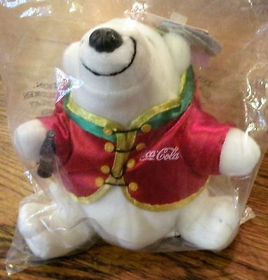 UnopndCollectible Coca-Cola POLAR BEAR Manchu Wok 1998 Plush Beanie COKE Chinese