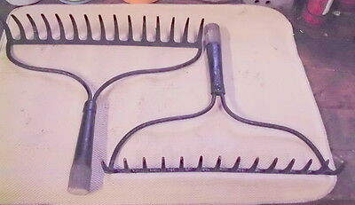 Primitive Metalgarden Rake Head / 15 Tine / Craft, Primitive, Farm Country