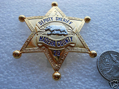 OBSOLETE 1930's. MADERA CALIFORNIA DEPUTY SHERIFF COLLECTOR'S BADGE