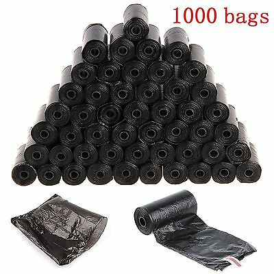 1000 Doggy Bags Extra Strong Pet Dog Cat Poo Poop Pooper Scooper Toilet Waste