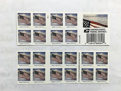20 US Flag Forever Stamps Books ++ SAME DAY FREE SHIPPING!! ++ $8.99 each!!