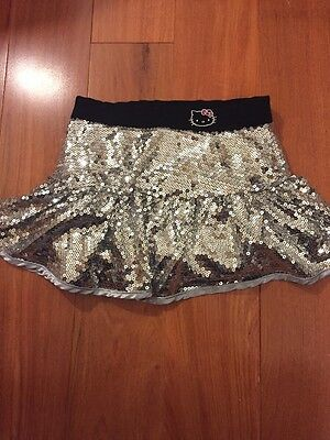 Girls Size 6 Hello Kitty Sequin Skirt With Attached Shorts Skort