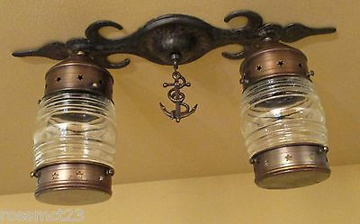 Vintage Lighting antique maritime theme ceiling fixture