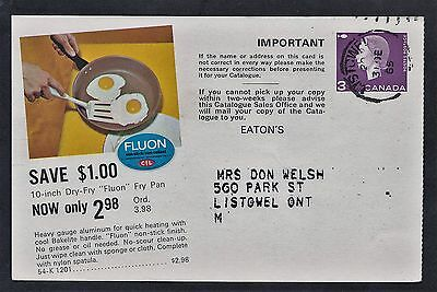 1964 Eaton's catalogue advertising 3c Cameo  postal stationery card. Listowel PT