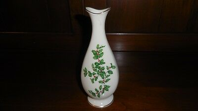 Vintage Lenox Holly and Berries Holiday Bud Vase (Made in USA)