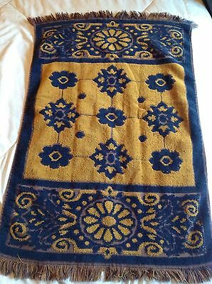 Set of 5 ST. MARY'S VINTAGE 60s MOD Blue Copper Gold HAND TOWEL MCM Sculpted