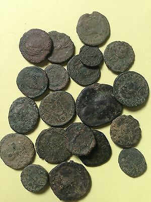 Uncleaned Ancient Roman Coins, Lot of 20