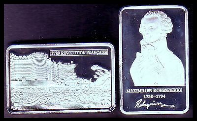 ●● Silver Plated Bar ● Robespierre And French Revolution 1789 ●