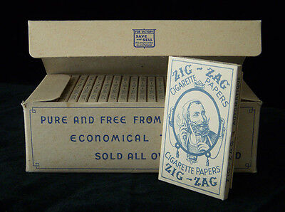 Zig-Zag Vintage Cigarette Rolling Papers WWII 1940's Pak Lot Rare