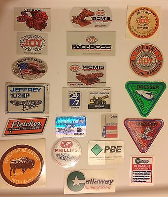 Lot Of 80 Coal Mining Stickers