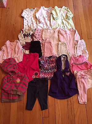 21 Piece Girl 0-3 Month Fall Winter Lot--Carter's, Gymboree