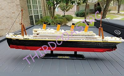 Oxford Deluxe Building Block Model Titanic Over 2ft Long FREE US SHIPPING
