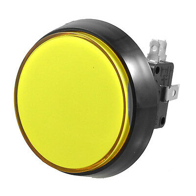 B3 Arcade Game 52mm Yellow Illuminated Momentary Push Button SPDT Micro Switch