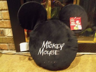 Disney Mickey Mouse Black Plush Pillow with Ears …