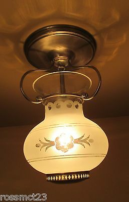 Vintage Lighting 1930s foyer fixture by Lightolier