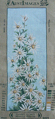Flannel Flowers - new Australiana tapestry canvas