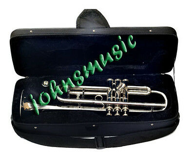 Bb AWESOME NEW TRUMPET_NEW^CHROME_BRASS BAND_TRUMPETS/MP W/CASE