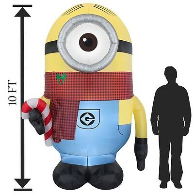 Inflatable Christmas Minion Airblown Minions Gemmy Outdoor Decoration Despicable