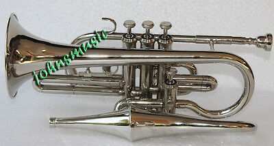 unlimited SALE!4*VALVE_CHROME*ECHO_CORNET ATTACHED MUTE BRASS INSTRUMENTS BB