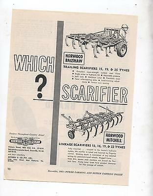 Horwood Scarifier Advertisement removed from 1963 Farming Magazine Tractor