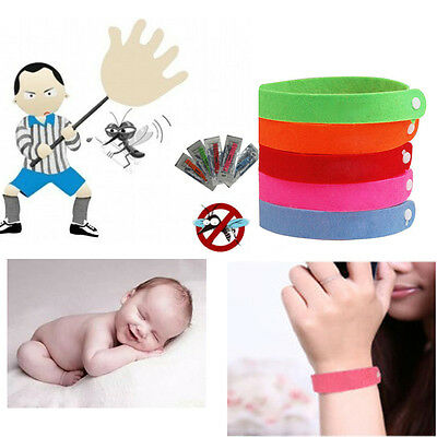20 Mosquito Insect Repellent Natural Non-Toxic Wrist Band Bracelet Camping