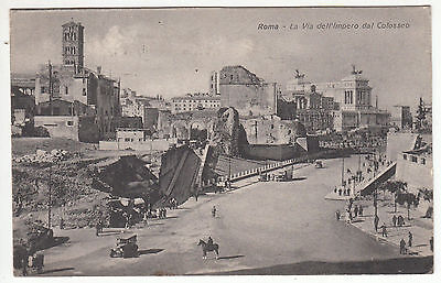 Carte Postale Italie Roma La Via Dell Impero Dal Colosseo