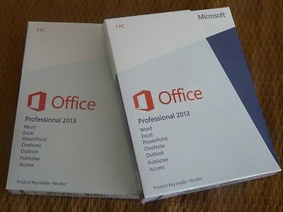 Microsoft Office Professional 2013 32/64-Bit With Download For 1 PC