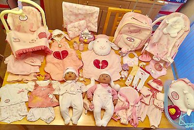 Huge Baby Annabell bundle dolls bouncer car seat play mat carrier case outfits