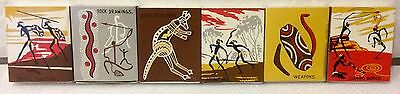 Aboriginal Traditions Themed Matchbox Set. Vintage Australian Set Of Matches