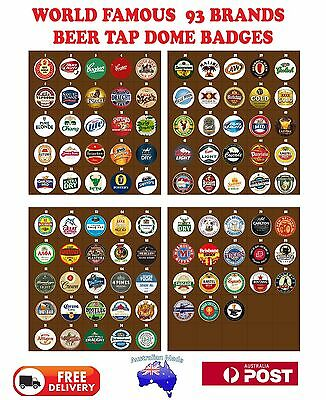 Beer tap Badge Decal 3D Dome Adhesive top Badge for home bar, pub or collector