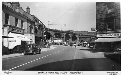 Burnley Road & Market Todmorden unused RP pc Liliywhite Ref A44