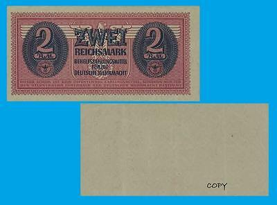 Germany 2 Reichsmark Wehrmacht ND 1942. UNC - Reproduction