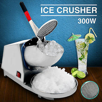 143LBS Ice Crusher Ice Shaver Machine Snow Cone Maker Shaving Summer Cool 300W