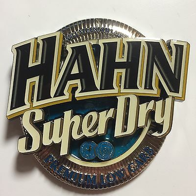 BRAND NEW Hahn Super Dry metal beer tap badge/decal  - Collectable